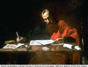 Paoloscrive le lettere, Valentin de Boulogne, 1621